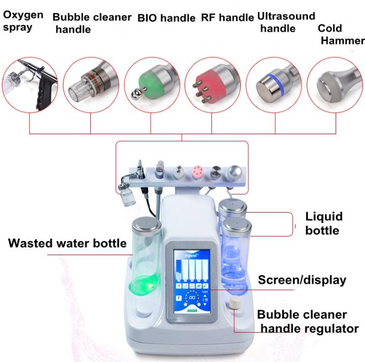Multifunktionsmaskine til kosmetologbehandling
