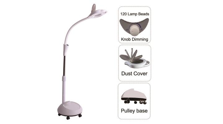 LED luplampe med lysdæmpning